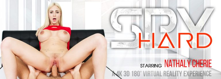 VR Porn video with Spy Hard Nathaly Cherie