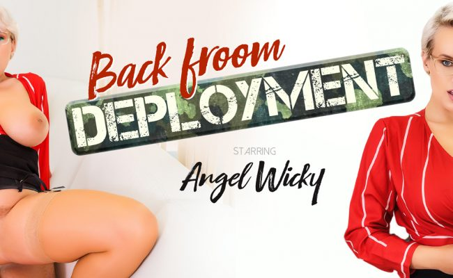 VR Porn video with Back From Deployment Angel Wicky
