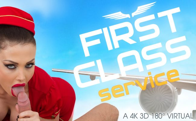VR Porn video with First Class Service Aletta Ocean