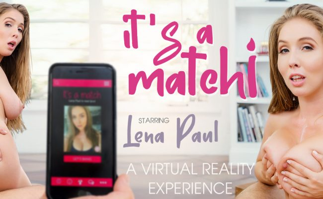 VR Porn video with It's a match! Lena Paul