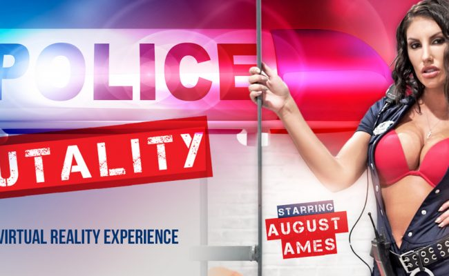 VR Porn video with Police Brutality August Ames
