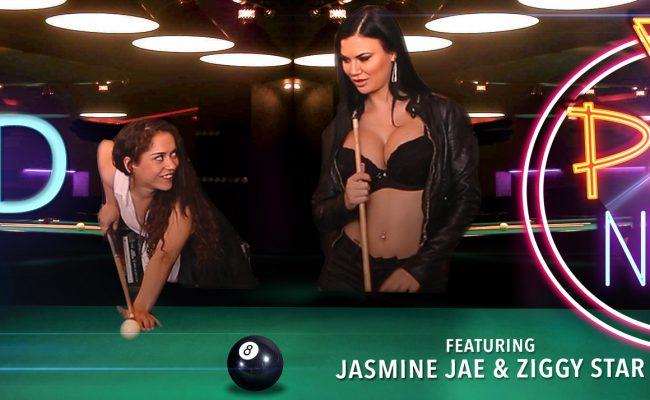 VR Porn video with Pool Night Jasmine Jae, Ziggy Star