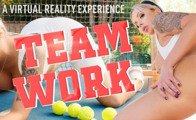 VR Porn video with Team Work Nina Elle