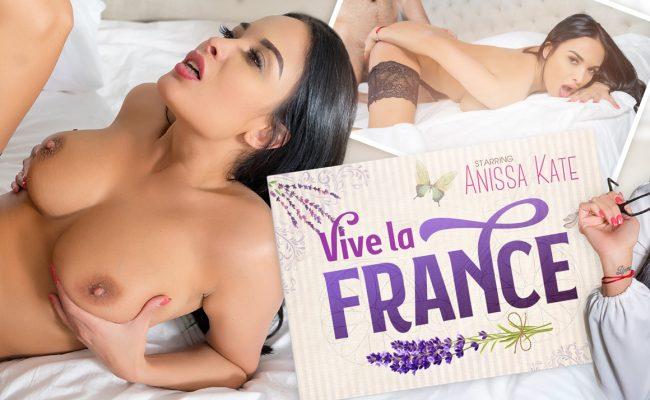 VR Porn video with Vive la France Anissa Kate
